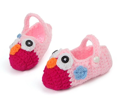 Um Unisex Par Flor Pássaro Sapato Centímetros 11 Sapato Tricô Tamanho Doce Bebê Vermelho 1 Padrão Sorriso Tricô De Ykk qEwI7Wa