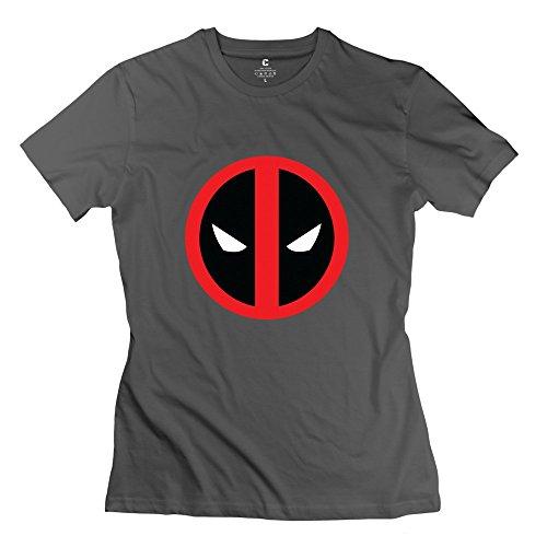 Kst Frauen Deadpool Logo 2016Film T-Shirt Baumwolle Neuheit Gr. Small, DeepHeather