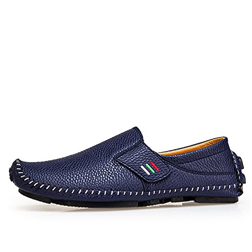 Fashion Moccasins for Men Loafers Summer Walking Breathable Casual Shoes Men Hook&Loop Driving Boats Men Shoes Flats 189 Blue 6.5 Cushe Cushe Slipper