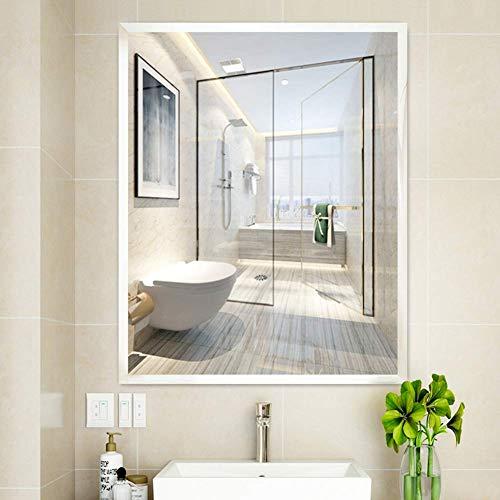 HZWLF Espejo de baño LED Espejo de vanidad Borde Mate Vidrio a Prueba de explosiones Material ecológico...