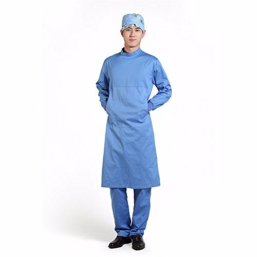 Xuanku Medical Operating Gown, Pure Cotton Medical Surgical Gown, High Temperature Resistant Surgical Gown, Hand Washing Clothes