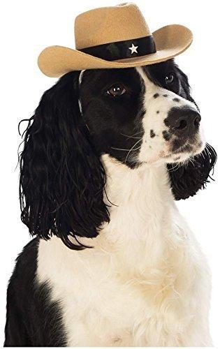 Animal Haustier Hund Katze Cowboy Hut Wilder Westen Kostüm Kleid Outfit - M/L (Hund Cowboy Kostüme)