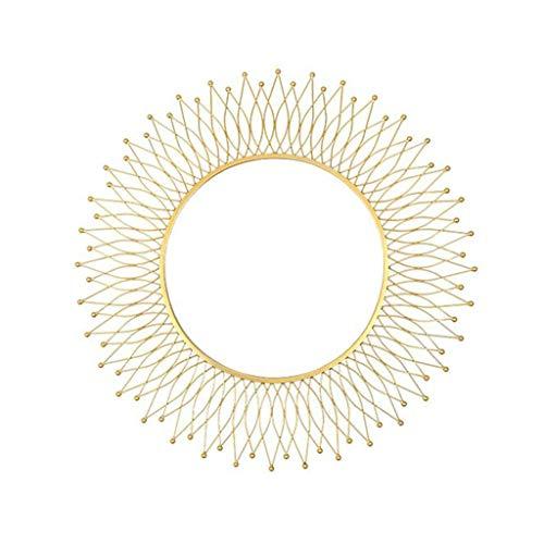 MLMHLMR Decorativo Espejo Americano Redondo Dorado Gafas de Sol Porche Sala de...