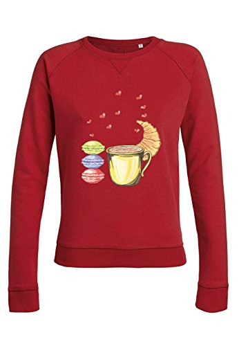 ul25 Sweat pour femmes Trips Love with Croissant red
