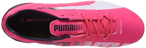 Puma Evospeed 4.3 Ag, Chaussures de football homme Rouge - Rot (bright plasma-white-peacoat 03)