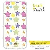 Funnytech® Funda Silicona para Xiaomi Redmi 6 /Xiaomi Redmi 6A [Gel Silicona Flexible, Diseño Exclusivo] Patrón Estrellas Colores Pastel