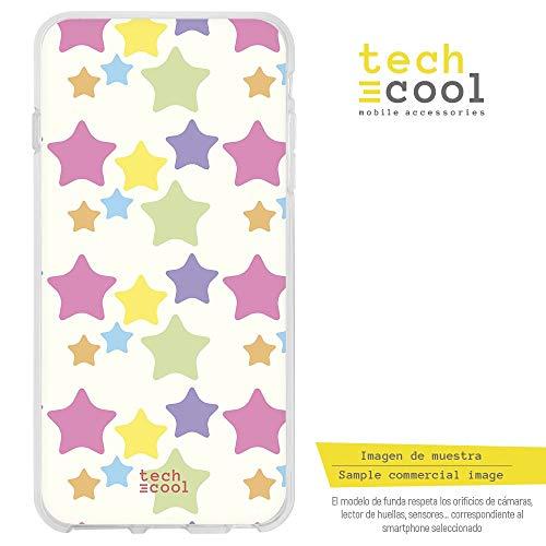 Funnytech¨ SchutzHŸlle Soft TPU Silikon HŸlle Transparent fŸr Asus Zenfone 4 Selfie ZD553KL / ZB553KL l Case, Cover, Handy, High Definition Druck [Patr-n Estrellas Colores Pastel]