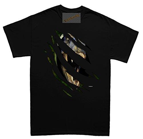Renowned T Rex Inside Herren T Shirt Schwarz