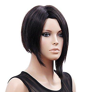 OOFAY JF-Mode schwarz kurze glatte Haare Perücke synthetische Perücken rihanna Stil der neuen Ankunfts , (Rihanna Perücken)