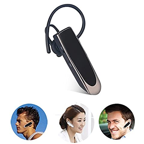 THANLY Bluetooth Headphone Super Long Standby Time Wireless Bluetooth 4.0 Mini Stereo Headset Earphone Earbud Earpiece with Mic for iPhone 5s 6 6s Plus Samsung S4 S5 S6 S7 Blackberry Etc (Black) - Serie Amplificatore Mixer
