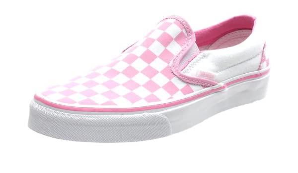 deed5d1ff10446 Vans Classic Slip On (Checkerboard) Prism Pink True White Shoe EYEARC  (UK8)  Amazon.co.uk  Shoes   Bags