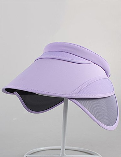 Femme d'été chapeau de soleil Crème solaire de plein air Anti-UV Vide haut soleil chapeau ( couleur : 2 ) 12