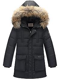 ZOEREA Doudoune pour garçon Longue Doudoune à capuche Veste Blousons Manteaux hiver