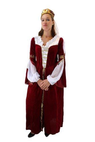 Aufwändiges Kostüm Damen Königin Prinzessin Adelsdame Adelige Mittelalter Gr. 46 (Kostüme Herzogin Die)