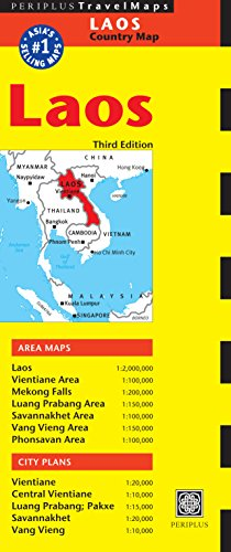 Laos Travel Map Third Edition (Periplus Maps) (Periplus Travel Maps)