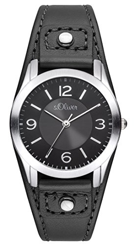 S.Oliver Women's Analogue Quartz Watch with Leather Strap – SO-2945-LQ