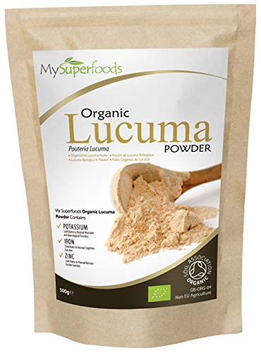 Bio Lucuma Pulver (500g) | MySuperFoods | Peruanische Frucht Mit Natürlich Süßem Geschmack | Stark An Protein, Kalzium Und Phosphor | Von Soil Association Als Organisch Zertifiziert