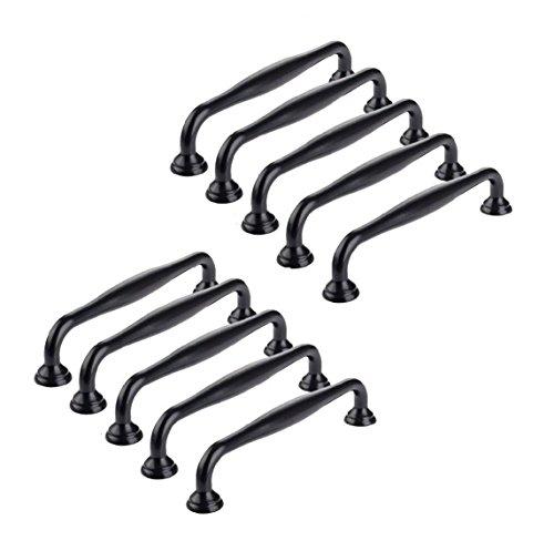 Ebeta 10 x Tiradores de Muebles Tiradores de Puerta Tiradores de Arco Perillas de Muebles Perilla de Muebles de cerámica Tiradores de armarios Negro