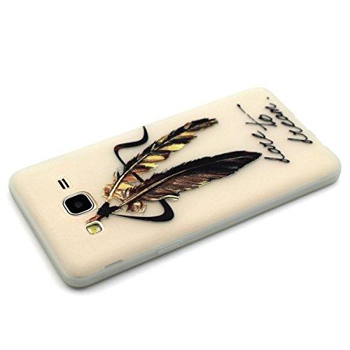 iPhone 6S Custodia, iPhone 6 Cover, Felfy Fantasy Divertenti Colorate la Pittura con Notte Luminoso Trasparente Clear TPU Gel Silicone Protettivo Skin Custodia Protettiva Shell Case Cover per Apple iP Piuma