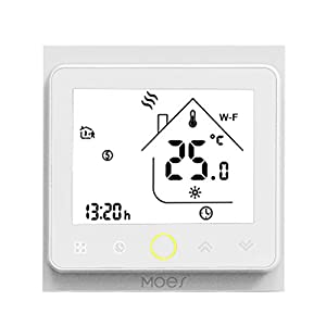 Decdeal Termostato WiFi per Caldaia a Gas/Acqua - Thermostat Intellight Programmabile, Supporto App/Controllo Vocale… 41EWT%2BO89sL. SS300