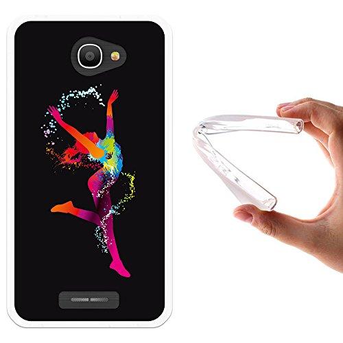 funda-alcatel-pop-4s-woowcase-alcatel-pop-4s-funda-silicona-gel-flexible-chica-bailando-con-manchas-
