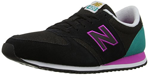 New Balance Women's WL420 Bold Brights Running Shoe Black/Galapagos/Azalea
