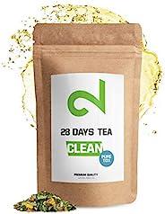 DUAL CLEAN-28 Days PureTox Tea | Voor Dames en Heren | Traditioneel Actief Kruidencomplex | 85g Los Blad | Zon