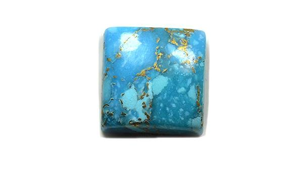 Jewelryonclick 14X14 MM Echt T/ürkis Stein Quadratische Form Cabochon Lose Edelstein F/ür Jewlery Making