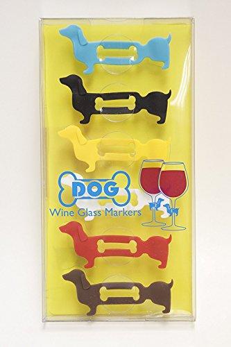 Weinglas Marker mit Bunt und stilvolles Design-Set von 6 90 (W) x 30 (D) x 115 (H) mm hund