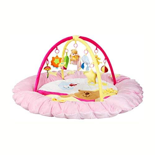 LUYIASI- Kid Spielmatte, Ungiftig Klappbodenmatte Schaum Große Fliesen wasserdichte Baby Krabbeln Matte Für Junge Mädchen, dick (140x140x60 cm) Non-Slip mat (Farbe : Rosa)
