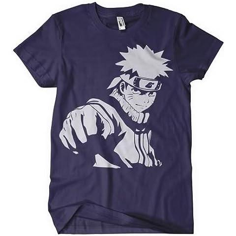 Naruto Shippuden T-de manga corta de mujer inspirado en el manga y balón de diseño de Naruto con Fist en color azul