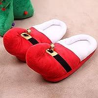 Zapatos de algodón de Dibujos Animados de Navidad Pareja Bolsa Raíz - Rojo, Blanco, Verde