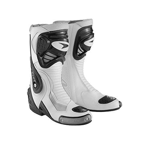 AXO Stivali da Moto Primato Evo, 41, Bianco