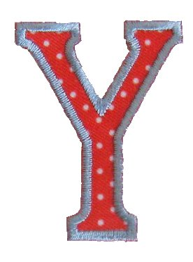 Y Red White ABC letter 9cm big for crafts jeans clothing fabric names to iron on door hat skirt dresses cap jacket neckerchief ceiling flag pants plate backpack trousers cushion scarf bunting bag hat to personalise gifts for christening arts personally boy embroidered sports football baby baptism club city girl personalized decoration personal application mend wall applique personalise arts sewing decorating wall personalise idea idea iron on patches creative craft sew on birth