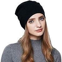 Storagc Chapeau Bonnet Tricoté Automne Et Hiver Bonnet Doublé Polaire Laine  Chapeau Bonnets Femmes Bonnets Hiver 0311d648d05