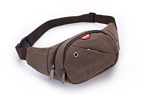 ZYT Trend der personalisierten Leinwand Geldbörse Geldbörsen Schulter Taschen außen Breitensport Reiten Dark Brown