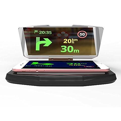 Aventus ZTE Blade L2 Écran de Tableau de Bord Universelle GPS Head Display HUD Support de Pare-brise pour GPS et Smartphones