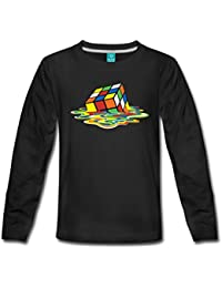 1a48a9fe09bfe Spreadshirt Rubik s Cube en Train De Fondre T-Shirt Manches Longues Premium  Ado