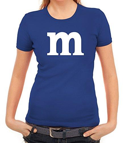 Karneval Fasching Junggesellenabschied Damen T-Shirt Gruppen & Paar Kostüm mit M Aufdruck, Größe: L,royal (Kostüme Lustig Frauen Ideen Für)