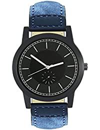 StyleKeepers Attractive Stylish Stylish Sport Look Black Dial Stylish Blue Leather Strap Strap Party Wedding |...