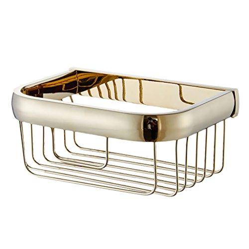 Sharplace Duschkorb Ablage Duschablage Badregal Duschregal aus Messing Gold