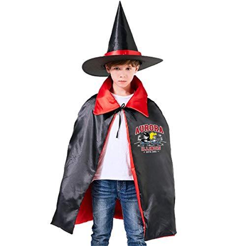 NUJSHF Waynes World Party Time Aurora Illinois Unisex Kinder Kapuzenumhang Umhang Umhang Cape Halloween Party Dekoration Rolle Cosplay Kostüme - Wayne's World Kostüm Kinder