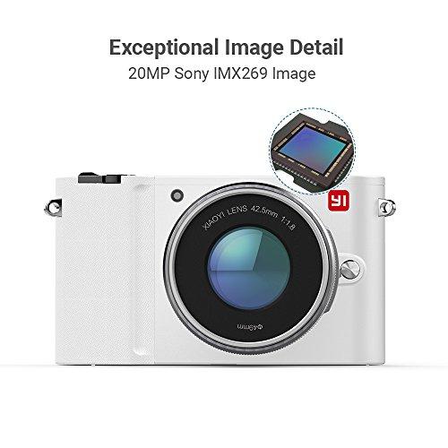 YI M1 Fotocamera Mirrorless Micro Quattro Terzi 4K Fotocamera Digitale MFT 20 Megapixel 2 Obiettivi Intercambiabili 12-40mm & 42.5 mm (Colore Bianco - Kit 2 Lenti)