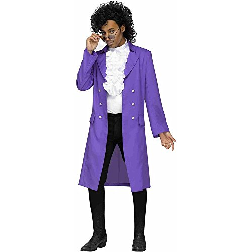 Prince Purple Rain Pop Star Mens Fancy Dress 80s Music Celebrity ...