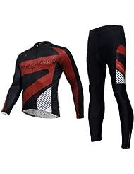 Maillot cyclisme avec des collants Casual Polyester tergal Quick Dry ultraviolet résistant veste à manches longues respirante compression hommes pantalons Set Costumes Vêtements vélo