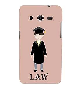 Fiobs Designer Back Case Cover for Samsung Galaxy Core 2 G355H :: Samsung Galaxy Core Ii :: Samsung Galaxy Core 2 Dual ( Illustrations Law Symbol Pink)