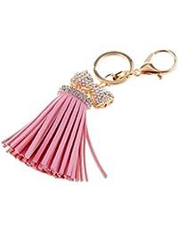 571af5545a Generic Rhinestone Bownot Pink Tassel Charm Keyring Key Chain Keyfob Women  Fashion Accs Charms Ornaments Creative