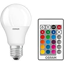 Osram LED-Lampe   Sockel E27  Warm White (2700 K)   ersetzt Glühlampen mit 60 W   9,00 W   Matt   LED Retrofit RGBW lamps with remote control