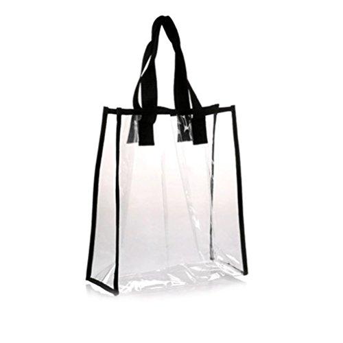 Screenes Handtaschen Damen PVC Klare Handtasche Tote Bag Gym Tote Bag Einfacher Stil Für Frauen Arbeiten Schule Sportspiele Und Konzerte Klar Tasche (Color : Colour, Size : One Size)