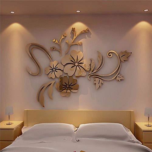 CAOQAO Adesivi murali tridimensionali della Lega acrilica dello Specchio 3D di Stile Europeo, Formato: approssimativamente 40 * 60cm, Pittura Doppia-Aperta e Trasparente
